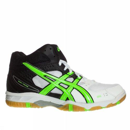 ASICS Gel-Task Mt - Sneaker, Bianco Nero Verde, Taglia 12,5 (US)