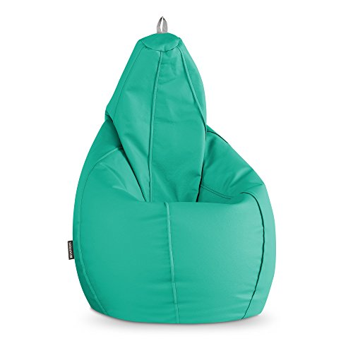HAPPERS Puff Pera Polipiel Outdoor Turquesa XL