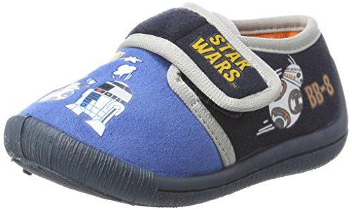 Star wars sw001703, pantofole bambino, blu (d.c.blue/navy/l.grey 051), 27 eu