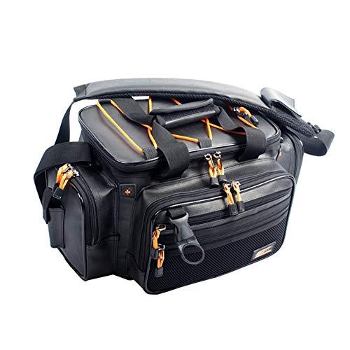 Frhp borsa da pesca portable outdoor tackle bags borsa a tracolla multipla borsa da pesca borsa multifunzione,30 * 23 * 19(cm)