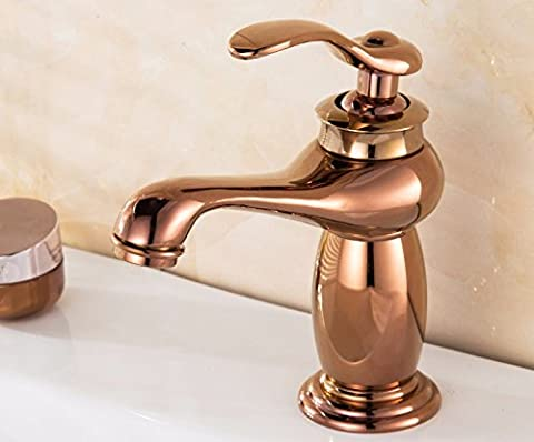 Bzzhen Copper Tap Faucet European antique to do the old basin single hole pure copper hot and cold antique gourd type hot and cold
