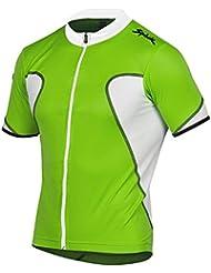 Spiuk Anatomic - Maillot M/C para hombre, color verde / blanco, talla L