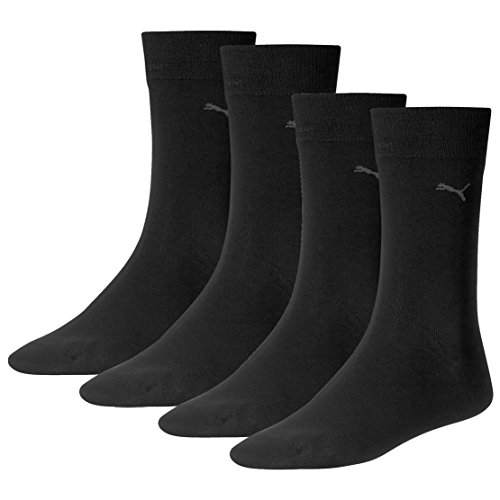 PUMA Herren Casual Socken Classic 4er Pack, Größe:43-46;Farbe:black
