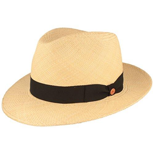 ORIGINAL Panama-Hut | Stroh-Hut | Sommer-Hut aus Ecuador - Traditionell Handgeflochten, UV-Schutz 40, Wasserabweisend, Bruchschutz - Bogart