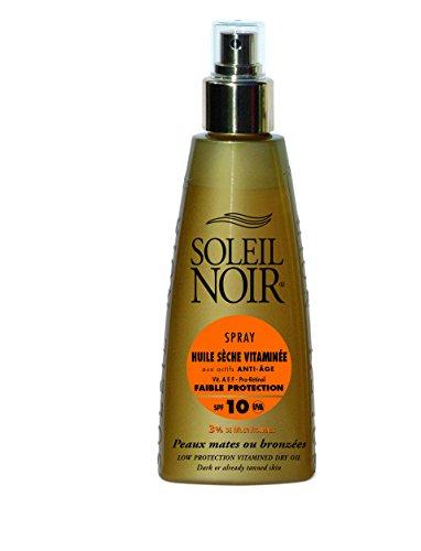 SOLEIL NOIR 60 Spray Huile Sèche Vitaminée 10 Protection Faible