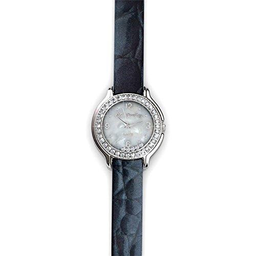 Myc paris–orologio sophie–cristalli swarovski–donna e acciaio inossidabile, colore: nero , cod. dl0023_bk