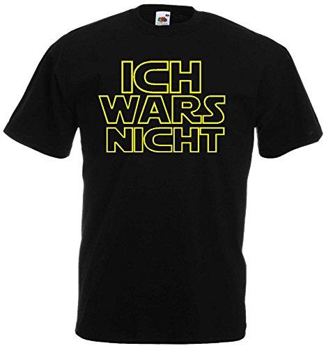 Ich Wars Nicht Herren T-Shirt Funshirt Star warsschwarz-L