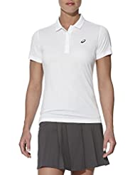 Asics W GPX SS Polo, Mujer, Blanco (Real White), XS