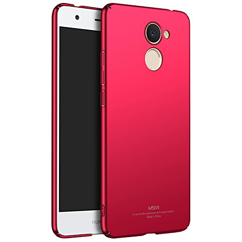 Coque Huawei Y7 Prime / Huawei Enjoy 7 Plus, MSVII® Très Mince Coque Etui Housse Case et Protecteur écran Pour Huawei Y7 Prime / Huawei Enjoy 7 Plus - Bleu JY00248 Rouge