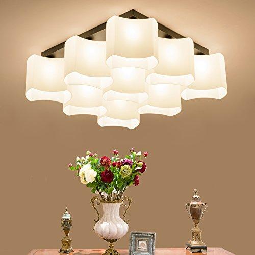 Designer Style Wall Plate (Amerikanische Einfachheit Deckenbeleuchtung Lampe Schlafzimmer Wohnzimmer Beleuchtung Speisesaal Den warmen Kinder-Zimmer Decke, 6 (einstellbare dreifarbige LED-Lichtquelle))
