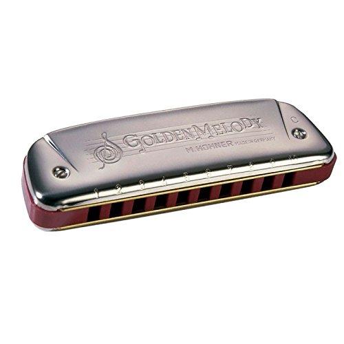 Hohner Golden Melody 542/20CX-Armonica, Korpus aus Kunststoff rot