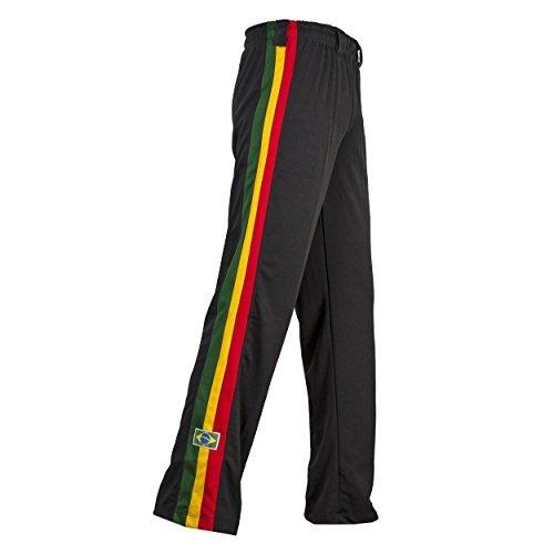 Original Brasilianische Capoeira Hose Unisex Schwarz Reggae Abada Martial Arts Elastische Pants. -
