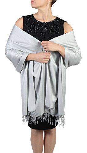 Sciarpa pashmina da donna Con Nappine Appendino gratuito fatta mano