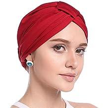 Cathy02Marshall Sombrero Cabeza para càncer,Gorro Sombrero Pañuelo Turbante  Mujer Cabeza para Càncer Quimioterapia Chemo a958a771339