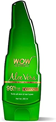 WOW Skin Science 99% Pure Aloe Vera Gel - Ultimate for Skin and Hair - No Parabens, Silicones, Mineral Oil, Co