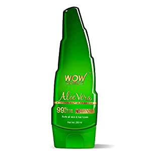 WOW Skin Science 99% Pure Aloe Vera Gel - Ultimate for Skin and Hair - No Parabens, Silicones, Mineral Oil, Color, Synthetic Fragrance, 250 ml