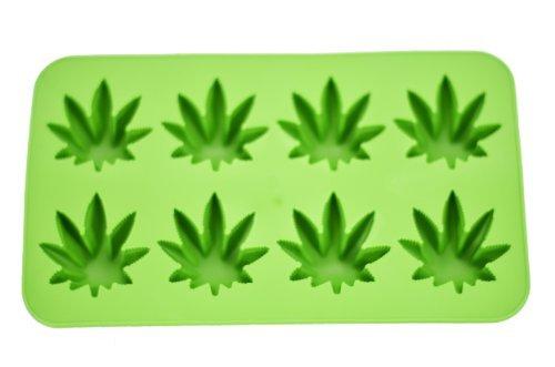 Fairly Odd Novelties Novelty Gag Gift Cannabis Marijuana Pot Leaf Shape Stoner Ice Cube Tray Mold by Fairly Odd Novelties -