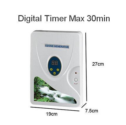 ZJchao 600mg/h Ozongenerator Digital-Ozon-Generator Ozon Entgiftung Maschinen für Obst Gemüse Fleisch Süßwasser Hydroponics (Digital Timer - Max 30 Min)