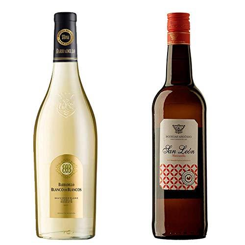 Blanco De Los Blancos Y Manzanilla San León - Vino De La Tierra De Cádiz Y D. O. Manzanilla De Sanlúcar De Barrameda - 2 Botellas De 750 Ml