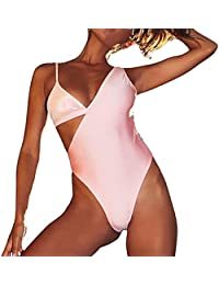 212701bc63 ReooLy Femmes Summr Backlss Sxy Swimwar Bachwar Siams Maillot De Bain  Bikini St