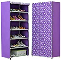 Preisvergleich für BLOIBFS MEI Schuh-Schuh-Einfacher Schuh-Glanz-Fester Dicker Nichtgewebter Speicher-Schuh-mehrschichtiges Schuh-Regal,Purple