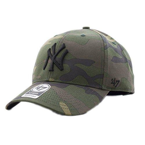 47 brand Gorra Mlb New York Yankees Mvp Curved V Struct fit verde negro  multi d0e3414309b