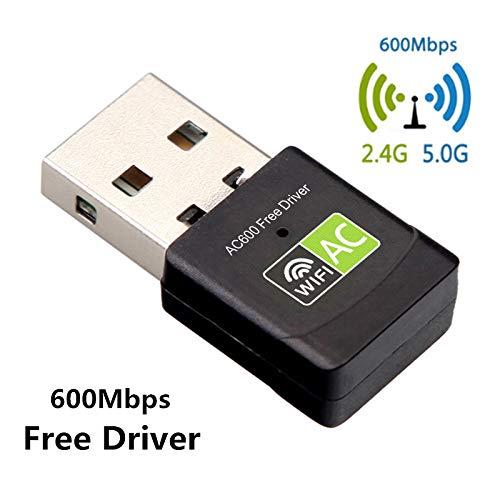 l Band Freier Treiber Adapter 600Mbps 5 Ghz Antenne USB Ethernet PC WLAN Adapter LAN WiFi Dongle AC WiFi Empfänger ()