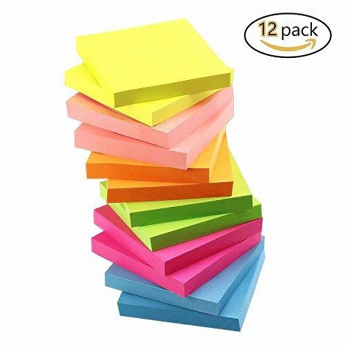 Dragon Acht Bright Farbe Sticky Notes 7,6x 7,6cm selbstklebend Notes 12Pads/Pack 100Blatt/Pad Office Sticky Pad