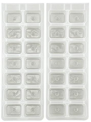 Chef aid moules à glaçons en plastique (set of 2) tout neuf de haute pour la qualité des timbres rapide