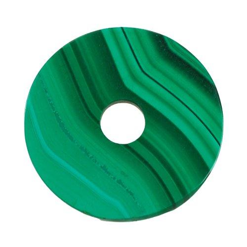 Malachit Scheibe, Anhänger, Ø ca. 23 mm
