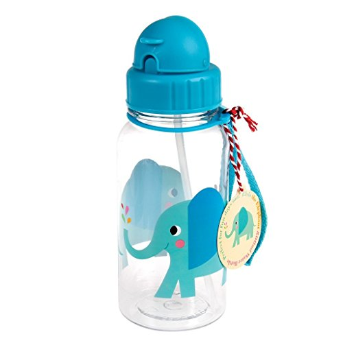 Rex London Kinder Trinkflasche Kindertrinkflasche 340 ml - komplett frei von BPA und Phthalat - Motiv (Elvis, 500 ml)