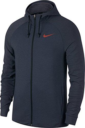 Crimson Pullover Hoody (Nike Herren Dry Langarm Oberteil Mit Kapuze Full-Zip, Thunder Blue/Black/Light Carbon/(Hyper Crimson), L)