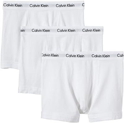 Calvin Klein Men's 3 Pack Trunks, White