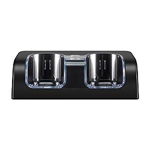 Prous LU19 WII Controller Ladegerät, WII Ladegerät WII Remote Ladestation Dual mit 2 2800mAh Akku und LED-Anzeige für Nintendo WII Controller