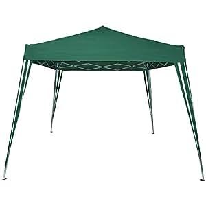 Pavillon tonnelle de jardin - pliant (montage rapide)- Vert – 3 x 3 m - avec sac de transport - DIVERSES COULEURS AU CHOIX