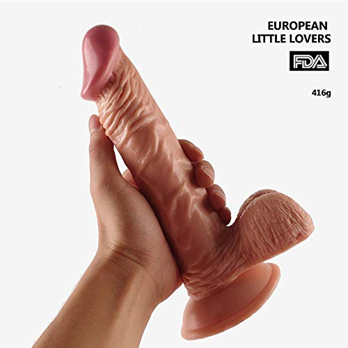 Preisvergleich Produktbild BOBO AiAi Persönliches Massage-Spielzeug mit Saugnapf,  wasserdichtes Handheld-Extra-Harter,  lebensechter Penis,  lebensechte Erfahrung Freisprech-Anal und Muschispiele Masturbation Luvkis Sex-Spielzeug