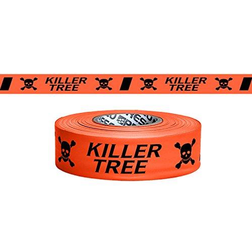 Presco bedruckt Rolle ins Tape: 1–3/16in. x 50Yards. (Neon Orange mit Schwarz Totenkopf Icon und