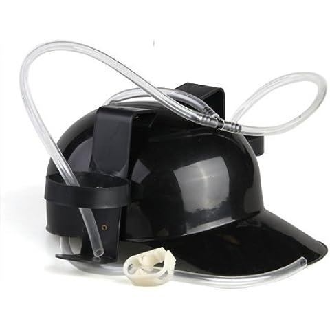 DcolorCerveza casco Negro Plastico Beber cerveza Casco del sombrero del casquillo del coque