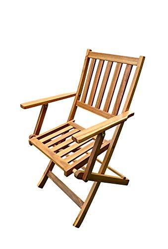 SAM Klappstuhl Camelia, Akazien-Holz Gartenstuhl, ideal für Balkon Garten Terrasse, klappbar, FSC® 100{a944207f3454ed0a8fbc1d5c3ece250c22dc2a1c512c216669e5ee976a2ca7c7} Zertifiziert