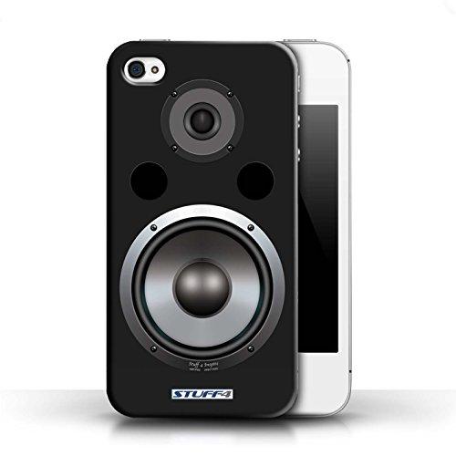 Kobalt® Imprimé Etui / Coque pour Apple iPhone 4/4S / Hifi conception / Série Haut-Parleur dessin Hifi