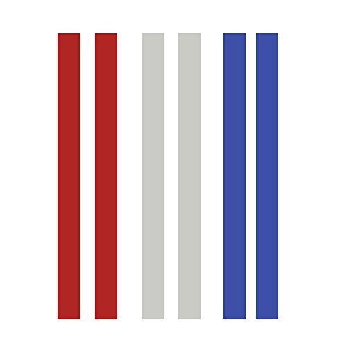 Aolvo teigdicke Schienen, 3Paar 1,25/1.5FT Teig Messbänder Silikon Perfection Streifen für Backen Cookies und Fondant, 3Größe (2/4/6) 1.5ft (Streifen Backen Noch)