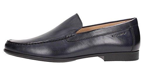 Stonefly 106714 Noir Absolu Confort Chaussures Hommes Mocassins Cuir Noir