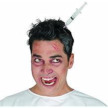 NET TOYS Siringa in Testa Cerchietto di Halloween - Accessorio Costume da Zombie Gadget Travestimento Morto Vivente Ornamento Capelli Vestito di Halloween Fascia per Capelli Horror Party