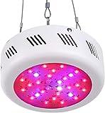SHISOU UFO LED élèvent la lumière 50W, 9 Full Spectrum Band Culture hydroponique Lampe de lumière avec la lumière UV IR pour Plantes d'intérieur Fleurs et légumes [Classe énergétique A +++]
