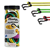 Tendeurs Elastiques de longueurs différentes avec doubles crochets inversés, 60 x 80 x 100 cm, Rouge, Vert, Jaune, 6 pièces