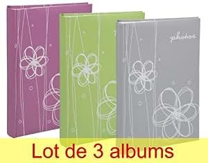 Lypse - Set di 3 album per foto Erica Ellypse, con 300 tasche per foto da 11,5 x 15 cm