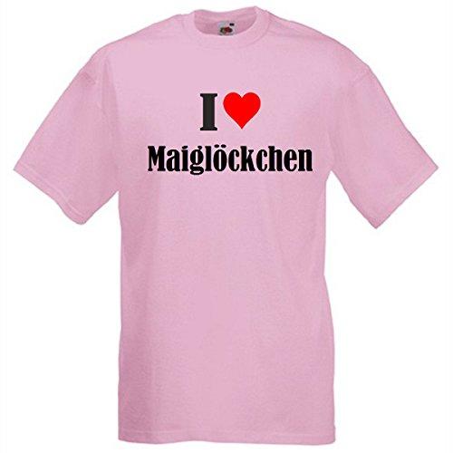 """T-Shirt """"I Love Maiglöckchen"""" für Damen Herren und Kinder in Pink Pink"""
