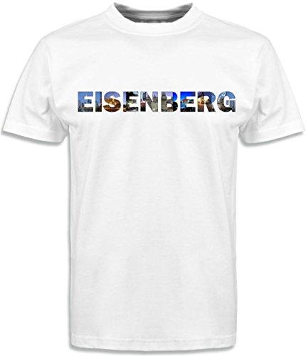T-Shirt mit Städtenamen Eisenberg Weiß