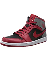 Nike Air Jordan 1 Mid - Zapatillas para hombre, color rojo