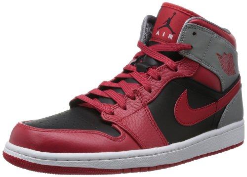554724 603|Nike Air Jordan 1 Mid Red|44,5 US 10,5 (Air Jordan 554724)